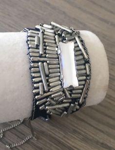 New Authentic CHAN LUU Chiffon Beaded Tie Bracelet Clr: Dress Blue    eBay