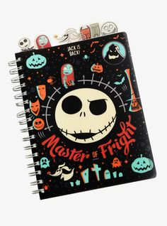 Write down your plans for next Halloween, check your list and make it twice, or just jot down thoughts and feelings. This black tabbed journal features a The Nightmare Before Christmas design starring the Master of Fright, Jack Skellington. Nightmare Before Christmas Decorations, Nightmare Before Christmas Halloween, Jack Disney, House At Pooh Corner, Harry Potter Marauders Map, Trending Christmas Gifts, Christmas Journal, Christmas Bags, Freak Flag