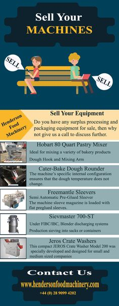Do you have any surplus processing and packaging equipment for sale, then why not give us a call to discuss further. Henderson Food Machinery work closely with Moody Auctions and can supply you with asset valuations on all of your surplus machinery.