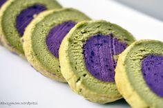 Green Tea (Matcha) Souffle Roll Cake with Purple Sweet Potato Paste – Abusymom's Blog