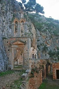 Katholiko monastery ruins of Chania (near the northern shores of Cape Akrotiri) Chania, Crete. http://www.explorecrete.com/crete-west/EN-Katholiko-Monastery.html