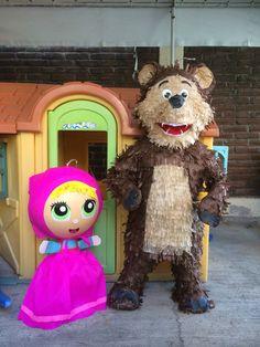 Piñatas de Masha y el Oso Bear Party, Pig Party, Bear Birthday, 3rd Birthday, Minions, Masha And The Bear, Ideas Para Fiestas, Woodland Party, 4th Birthday Parties