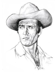 After the Civil war adventurer Cheyenne Bodie roamed the west looking for fights, women and bad guys to beat up. Clint Waller is one of the heroes of my. Clint Walker as Cheyenne TV western 1955 1963 Clint Walker, Tv Westerns, Celebrity Caricatures, Celebrity Drawings, Cheyenne Bodie, Charcoal Art, Charcoal Drawings, Cowboy Art, Western Movies