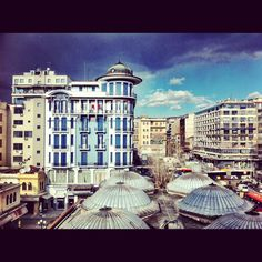 Downtown, architecture, Thessaloniki, Greece