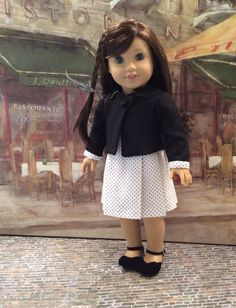 American Girl Doll Clothes-Custom Couture Dress by gofancynancy