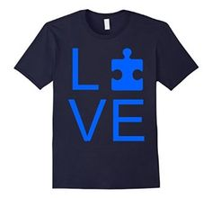 LOVE - Autism Awareness Puzzle T-Shirt