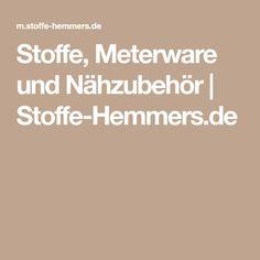 Stoffe, Meterware und Nähzubehör | Stoffe-Hemmers.de
