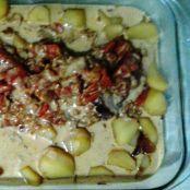 Lagarto com Batatas Au Molho Agridoce na panela de pressão