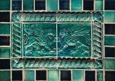 Griffin Panel, Color: Blue Green Decorative Tiles