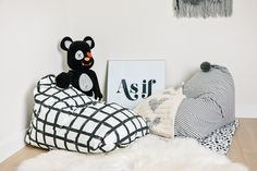 Doesn't this look so inviting? Kids C, Design Lab, Trendy Home, Kids Furniture, Kids Playing, Playroom, Nursery Decor, Bean Bag Chair, Bag Chairs