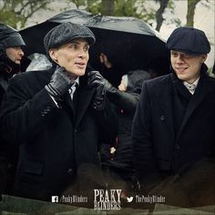 #CillianMurphy and @theotherjoecole crack jokes #onset. Keeps the cold away.  #PeakyBlinders #NewPeaky #BehindTheScenes #TommyShelby #JohnShelby