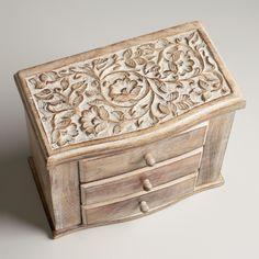Whitewashed Ersilia Double Jewelry Box | World Market