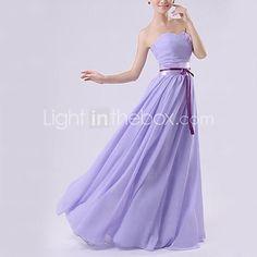 A-line Sweetheart  Floor-length Chiffon Evening Dress - USD $39.99