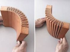 Brilliant way to make curved wood Woodworking Joints, Learn Woodworking, Woodworking Furniture, Woodworking Plans, Woodworking Projects, Woodworking Magazine, Recycled Furniture, Wood Furniture, Modern Furniture