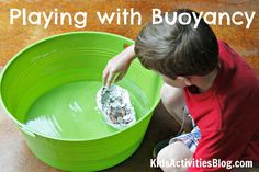 Playing with buoyancy- part of the Museum of Science + Industry Chicago's Summer Brain Games Series