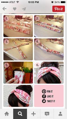 DIY hairband-Turban style