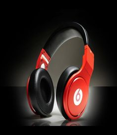 Monster Beats By Dr. Dre Pro Angel Headphones White with Red