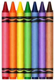 A brand new pack of crayons always makes me happy!
