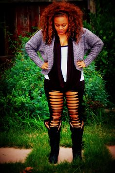 Plus Size Leggings Cut up Leggings Plus Size by 4TheWild on Etsy, $20.00  Ok My PlusSize Wild Childs..The Leggings are for all those animal insticts..Let it out, I know I will!!!