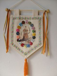 Diy And Crafts, Crafts For Kids, Arts And Crafts, Burlap Door Hangers, Home Altar, Ramadan Decorations, Prayer Flags, Fabric Toys, Cat Party