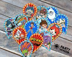 Yo-Kai cupcake toppers Yo-Kai Party supplies por PartyMonsterStuff