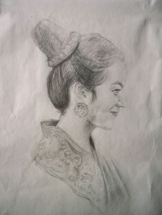 Art Quick Sketch Thai Girl by Sittichai Pijitam (cycnas) Quick Sketch, Art Drawings, Art Paintings