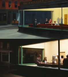 When Film Imitates Art    Edward Hopper's Nighthawks and Herbert Ross' Pennies from Heaven    Leonardo da Vinci's The Last Supper and Robert Altman's MASH    Edgar Degas' Dancers Lace Their Shoes and George Cukor's A Star is Born    Sandro Botticelli's The Birth of Venus and Terry Gilliam's The Adventures of Baron Munchausen    Henry Fuseli's The Nightmare and Ken Russell's Gothic