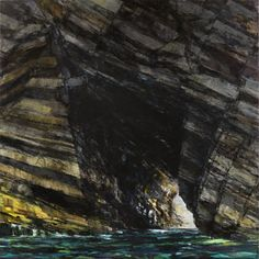 Sarah Adams, Marble Cliff, oil on linen, 170 x 170 cm