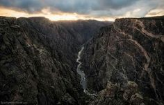 Black canyon, Colorado. Some parts only recieve 33 minutes of light a day.