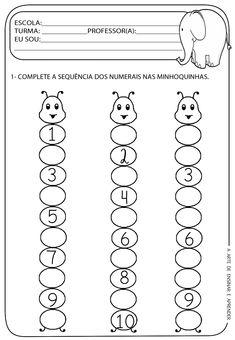 Kids Math Worksheets, Preschool Learning Activities, Kindergarten Lessons, Alphabet Worksheets, Toddler Learning, Math Classroom, Preschool Activities, Numbers Preschool, Learning Numbers