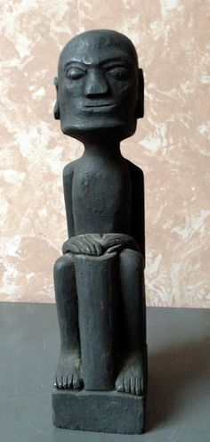 African Art Deco Statue .. Vintage African Hand by GodsofVintage, $19.95