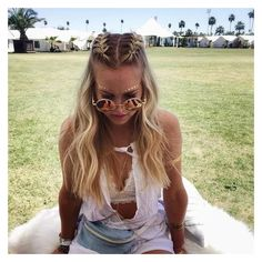 These Coachella braids are giving us all the #hairgoals ❤ liked on Polyvore featuring accessories and hair