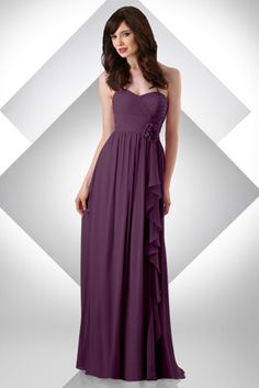 Maid of Honor dress in eggplant