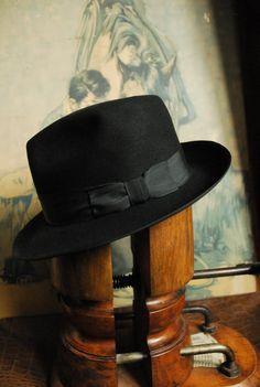 Vintage Barbisio Black Felt Fedora Hat Rare Hat Needs Sweatband UK 7 on Etsy, £24.99