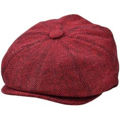 New Tweed Herringbone News Boy 8 Panel Gatsby Baker Boy Flat Cap G&H FROM UK
