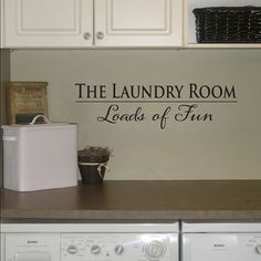 Laundry Room Wall Decal - Drop your pants here - Utility Room Decal - Laundry Decor Room, Simple Decor, Laundry Mud Room, Laundry Room Decals, Rental Decorating, Cool Wall Art, Laundry Room Decor, Room Storage Diy, Wall Decals Laundry