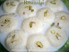 Simply Sweet 'n Savory: Rasmalai or Ras Malai ( Powdered Milk Balls In Sweetened Milk )