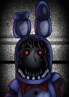 how to draw withered bonnie