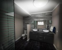 Bathroom 3d visualization of a moscow apartment made in for Sketchup bathroom sink