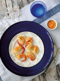 Langostinos en tempura Tempura, Sashimi, Mochi, Shrimp Recipes, Appetizer Recipes, Dessert Chef, Prawn Shrimp, Appetisers, Sushi Rolls