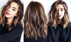 Cortes de cabelo 2018 - New Hair Style Curly Hair Styles, Hair Cut Styles, Long Hair Waves, Medium Hair Waves, Messy Waves, Medium Hair Cuts, Haircut Medium, Medium Hair Length Styles, Medium Length Haircuts