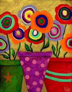 29 Ideas For Bohemian Art Painting Canvases Abstract Folk Art Flowers, Abstract Flowers, Flower Art, Abstract Art, Painting Flowers, Painting Tips, Painting Art, Frida Art, Bohemian Art