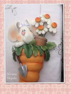 Coniglietto country ispirato da un opera di Linda Santos .