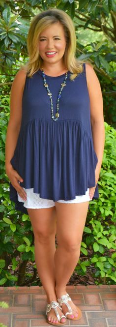 Sing, Sweet Nightingale Top - Navy - Perfectly Priscilla Boutique