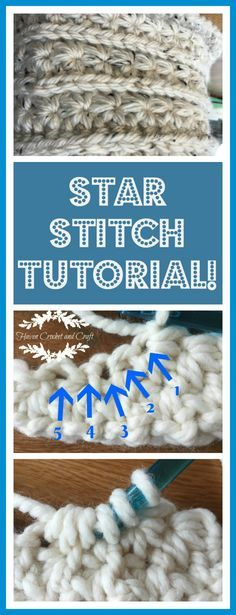 Detailed, step by step tutorial on how to crochet the ever popular and stunning star stitch!