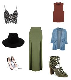 """""""Untitled #305"""" by aayushis on Polyvore featuring Topshop, Gianvito Rossi, rag & bone, Evans, Monki and G by Guess"""
