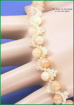 05-274 Yellow Round Jade and Lemon Ice Glass Seed Bead Bracelet along with a…