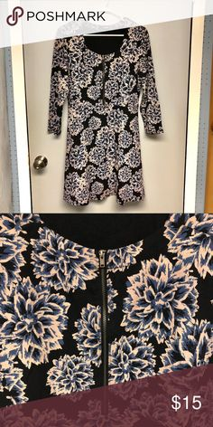 785b1c71a29561 Brooklyn Industries Fit   Flare Floral Dress Brooklyn Industries Fit    Flare Floral Dress Black with