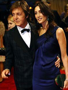 Paul McCartney and Nancy Shevelle-McCartney