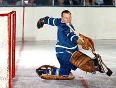 50 years ago in hockey, Johnny Bower had a big game for the Leafs against the Hawks. Hockey News, Pro Hockey, Hockey Goalie, Hockey Players, Religion In Canada, Tomorrow Is The Day, Maple Leafs Hockey, Canada Hockey, Hockey Rules